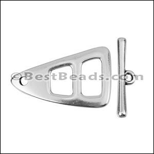 LARGE TRIANGLE TOGGLE clasp ANTIQUE SILVER - per 10 clasps