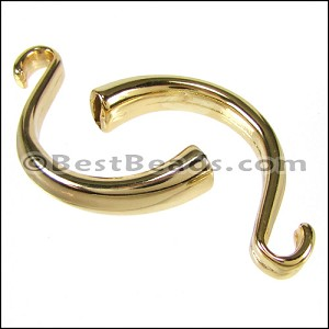 5mm flat CUFF HOOK clasp GOLD - per 5 pieces