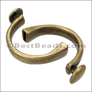 5mm flat CUFF DISC clasp ANT BRASS - per 5 pieces