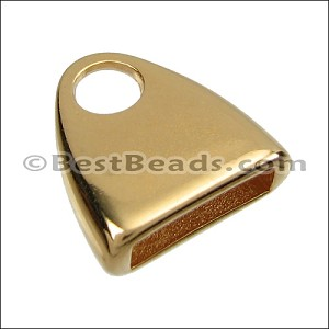 10mm flat TRIANGLE LOOP end SHINY GOLD - per 10 pieces