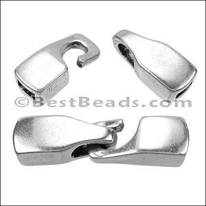 5mm flat HOOK clasp ANT SILVER per bag of 10 pieces