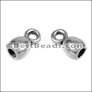 3mm round ROUND LOOP ends ANT SILVER - per 10 pieces