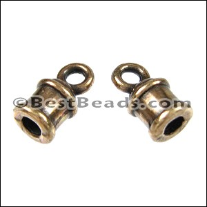 2mm round LOOP clasp ANT BRASS - per 10 clasps