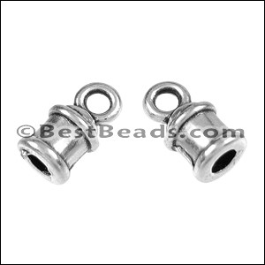 2mm round LOOP ends ANT SILVER - per 10 pieces