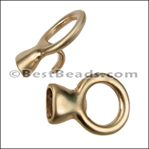 5mm round CIRCLE HOOK clasp MATTE GOLD - per 10 clasps