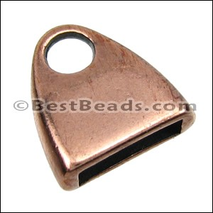 10mm flat TRIANGLE LOOP end ANT COPPER - per 10 pieces