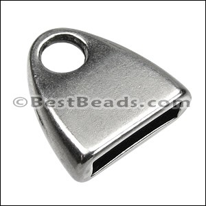 10mm flat TRIANGLE LOOP end ANT SILVER - per 10 pieces