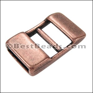 10mm flat ADJUSTABLE clasp ANT COPPER - per 10 pieces