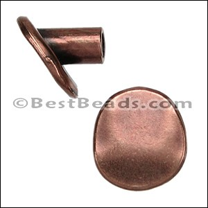 multi round BUTTON end ANT COPPER - per 10 pieces
