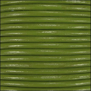 1mm round Indian leather - moss green - per 25m SPOOL