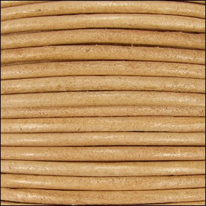 1mm round Indian leather - CREAM - per 25m SPOOL