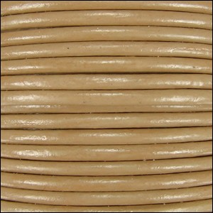 1.5mm round Indian leather - khaki - per 25m SPOOL