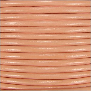 1.5mm round Indian leather - peach - per 25m SPOOL
