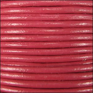 1mm round Indian leather - pink - per 25m SPOOL