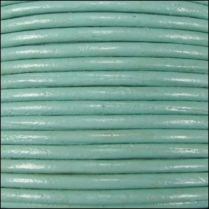 1.5mm round Indian leather - seafoam green - per 25m SPOOL