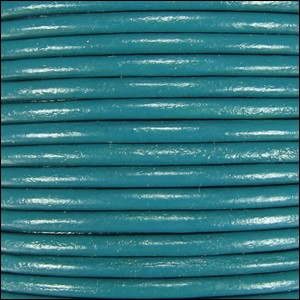 1mm round Indian leather - turquoise - per 25m SPOOL