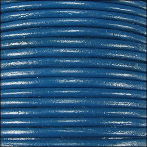 1mm round Indian leather - dark blue - per 25m SPOOL