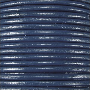 1mm round Indian leather - navy - per 25m SPOOL