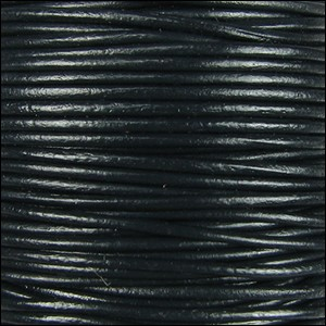 0.5mm round Indian leather - black - per 25m SPOOL