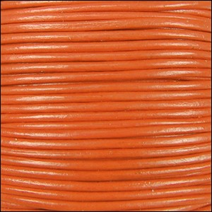 2mm round Indian leather - orange - per 25m SPOOL
