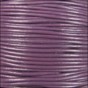 3mm round Indian leather - violet - per 25m SPOOL