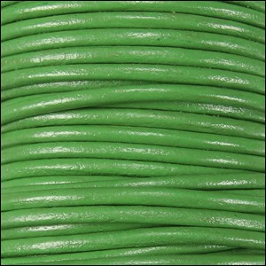 1.5mm round Indian leather - green - per 25m SPOOL