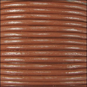 2mm round Indian leather - toffee - per 25m SPOOL