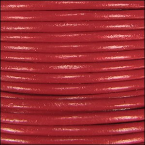 1mm round Indian leather - brick red - per 25m SPOOL