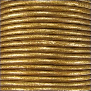 2mm round Indian leather - bronze METALLIC - per 25m SPOOL