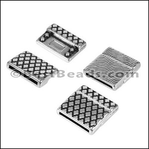 20mm Flat MOROCCAN magnetic clasp ANT SILVER - per 10 pieces