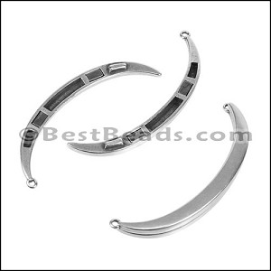 TOP CRESCENT magnetic clasp ANT SILVER - per 5 pieces