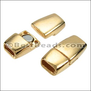 5mm flat TAPERED magnetic clasp GOLD - per 10 clasps