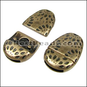 10mm flat FIREWORKS OVAL magnetic clasp ANT BRASS - per 10 clasps