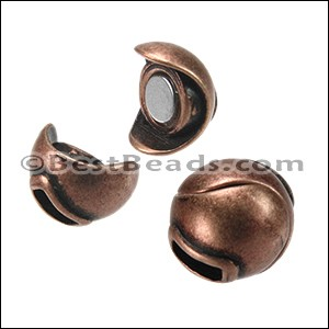 5mm flat SPHERE magnetic clasp ANT COPPER - per 10 clasps