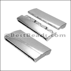 40mm flat RECTANGLE magnetic clasp ANT SILVER - per 5 clasps