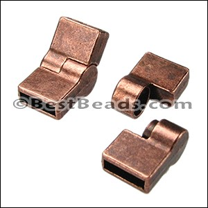 10mm flat HINGE magnetic clasp ANT COPPER - per 10 clasps