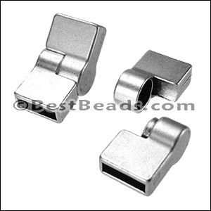 10mm flat HINGE magnetic clasp ANT SILVER - per 10 clasps