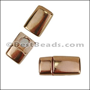 5mm flat ROUNDED magnetic clasp ROSE GOLD - per 10 clasps