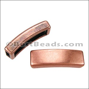 5mm flat LONG TUBE slider ANT COPPER - per 10 pieces