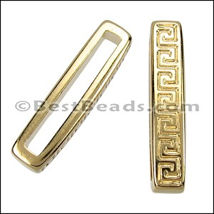20mm flat MEANDER slider GOLD - per 10 pieces