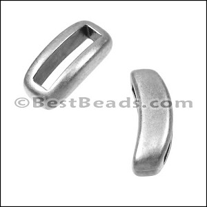 10mm flat CRESCENT spacer ANT SILVER - per 10 pieces