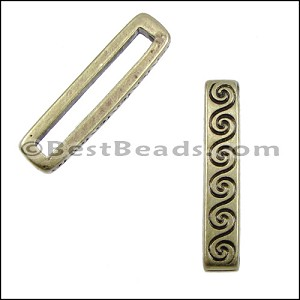 20mm flat WAVE spacer ANT BRASS - per 10 pieces