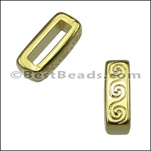 10mm flat WAVE spacer GOLD - per 10 pieces