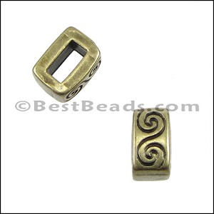 5mm flat WAVE spacer ANT BRASS - 10 pcs
