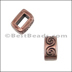 5mm flat WAVE spacer ANT COPPER - per 10 pieces