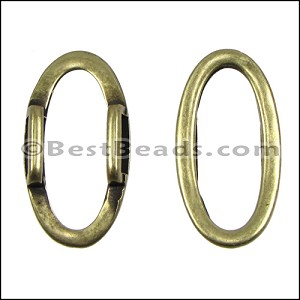 10mm flat OVAL RING spacer ANT BRASS - per 10 pieces