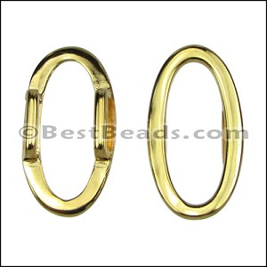 10mm flat OVAL RING spacer GOLD - per 10 pieces