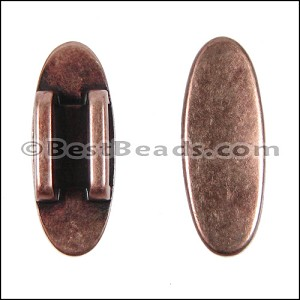 10mm flat OVAL DISC SPACER spacer ANT COPPER - per 10 pieces