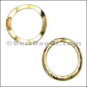 10mm flat LARGE HAMMERED RING spacer GOLD - per 10 pieces