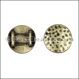 10mm flat HAMMERED CIRCLE spacer ANT BRASS - per 10 pieces